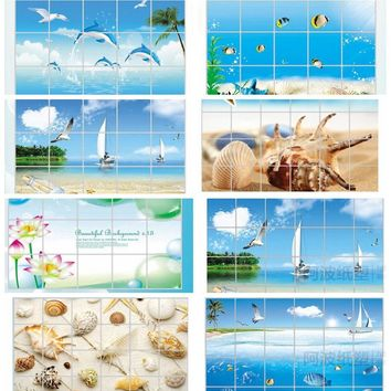 Waterproof Bathroom, Kitchen tile aluminum foil wall sticker home decor in Many Bautiful variants and Sizes