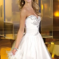 Strapless Sweetheart Tulle Dress by Alyce Sweet 16