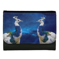 Blue Peacock Medium Faux Leather Wallet