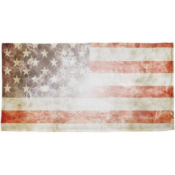 DCCKU3R 4th of July American Flag Star Spangled Banner All Over Beach Towel