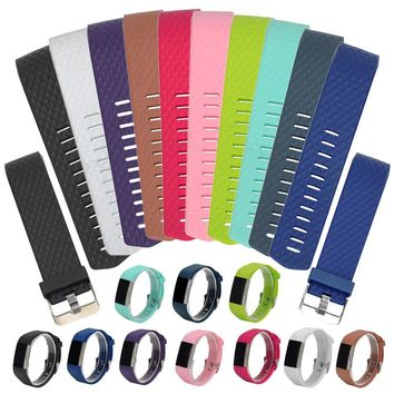 Silicone Replacement Band For Fitbit Charge 2 Heart Rate Smart Wristband Bracelet Wearable Belt Strap For Fitbit Charge 2 Band