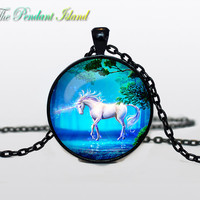 UNICORN PENDANT unicorn necklace  unicorn jewelry horse pendant Gifts for Him  Jewelry  Fantasy Pendant Art Gifts for Her