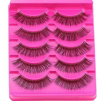 Crescent Princess Eyelashes Crossing Mink Lashes Hand Made Full Strip Eye Lashes Thick New Multilayer Cross Section