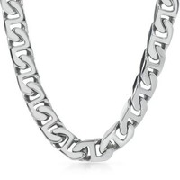"Men's Link Chain in Stainless Steel, 24"" - For Husband - Recipient - Gift Guide - Helzberg Diamonds"