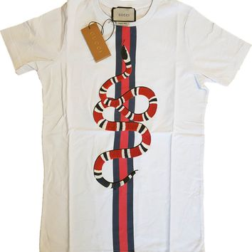 """t-shirt """" king snake"""" logo Gucci new with tags"""