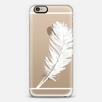 lovely white feather iPhone 6 case by Julia Grifol Diseñadora Modas-grafica | Casetify