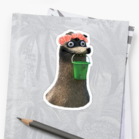 'Gerald Finding Dory Flower Crown No Background Transparent Sticker' Sticker by Marcles