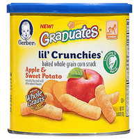Gerber® Graduates® Lil' Crunchies® 1.48 oz. Apple and Sweet Potato Baked Corn Snack