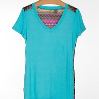 BKE Pieced V-Neck T-Shirt