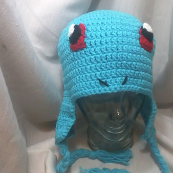 Pokemon Squirtle Hat - Crochet