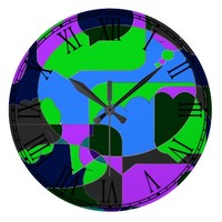 Dark Comic Abstract Wallclocks