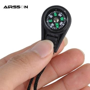 Outdoor Portable Mini Compass Keychain Tactical Combat Hiking Hiker Navigator Utility Compass Military EDC Lanyard Decoration