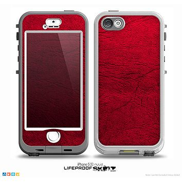 The Rich Red Leather Skin for the iPhone 5-5s NUUD LifeProof Case for the LifeProof Skin