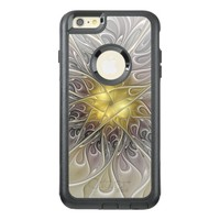 Flourish With Gold Modern Abstract Fractal Flower OtterBox iPhone 6/6s Plus Case