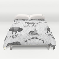 Political Toile Duvet Cover by Jessica Roux