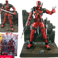 NEW Hot 18cm Super hero X-Men Deadpool action figure toys collection mobile toy doll Christmas gift