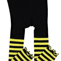 Bee Stripe Footless Tights