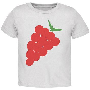 Halloween Red Grapes Costume Toddler T Shirt