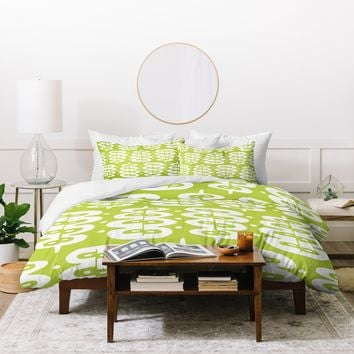Heather Dutton Fern Frond Green Duvet Cover