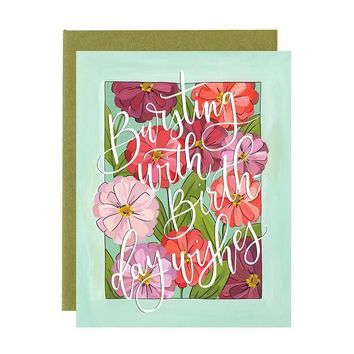 Birthday Zinnias Card