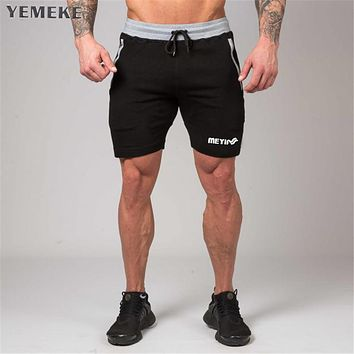 Men cotton shorts Calf-Length Gyms Casual Joggers Workout Sporting Fitness Bodybuilding Short Pants