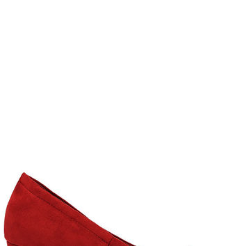 Having a Party Red Suede Heels