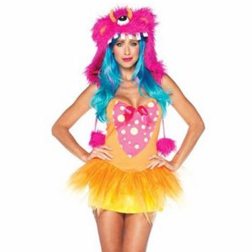 Shaggy Shelly Costume Rave Anime Cosplay Halloween Party Goth Sexy size - S/M
