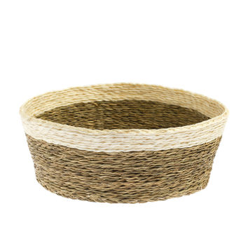 White Handwoven Swazi Basket
