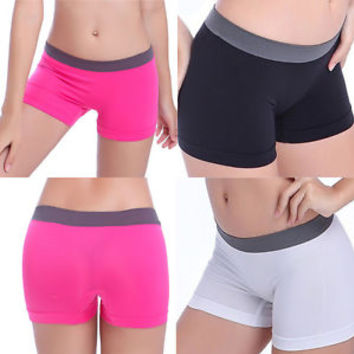 New Summer Pants Women Sports Shorts Gym Workout Waistband Skinny Yoga Shorts