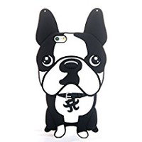 """3D Soft Silicone Case Back Covers for Apple iPhone 6 / iPhone 6s Regular Size 4.7"""" Screen Protective Fancy Fresh Chic Cute Lovely Cool Design for Girls Teens Kids Women (Bull Dog)"""