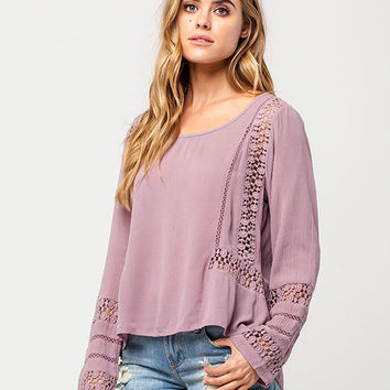PATRONS OF PEACE Crochet Open Back Womens Top | Blouses