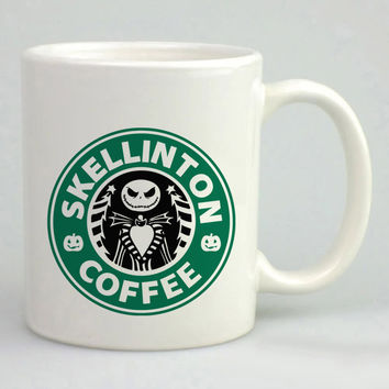 Nightmare ,Before Christmas Jack skellington Starbucks Mug, Tea Mug, Coffee Mug