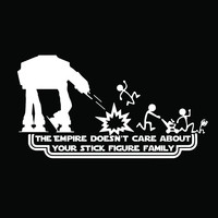 Star Wars Stick Figure Family At-At