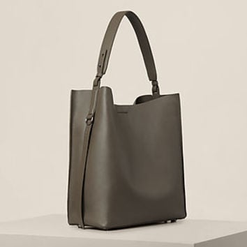 ALLSAINTS US: Womens Paradise North/South Tote (MINK GREY)