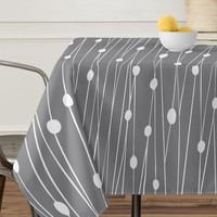 Heather Dutton Gray Entangled Tablecloth