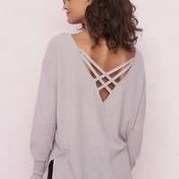 Slouchy Cross-Back Tunic