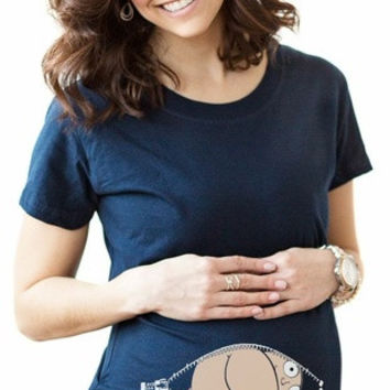 Mooning Baby Maternity Shirt = 1946899588