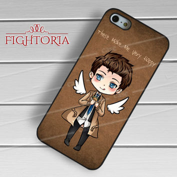 Cute castiel cas supernatural -rdh for iPhone 4/4S/5/5S/5C/6/6+,samsung S3/S4/S5/S6 Regular/S6 Edge,samsung note 3/4
