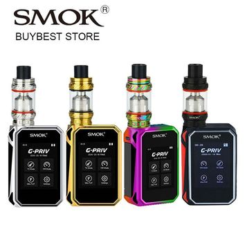 Original SMOK G-PRIV 220 Kit with GPRIV Touch Screen Box Mod & 6ml TFV12 Tank Atomizer & V12-T12/X4Q4 Coils e-Cigarette Vape Set