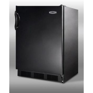 Summit 24 Inch Wide Freestanding Refrigerator-Freezer