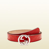 Gucci - kid's interlocking G buckle belt 258395BMJ0N6516