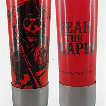 Sons of Anarchy shot glass 3 oz colored glass with regular print and metal base