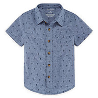 Okie Dokie Short Sleeve Button-Front Shirt-Toddler Boys - JCPenney