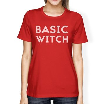 Basic Witch Womens Red Shirt