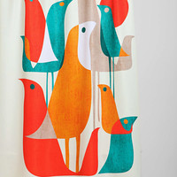 Budi Kwan For DENY Flock Of Birds Shower Curtain - Urban Outfitters