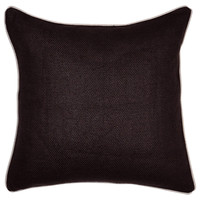 Night 22x22 Linen Pillow, Black, Decorative Pillows