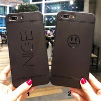 Fashion Simple nice face mobile phone case for iPhone X 7 7plus 8 8plus iPhone6 6s plus -171209