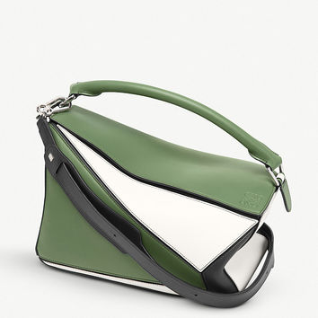 LOEWE Puzzle panelled leather shoulder bag