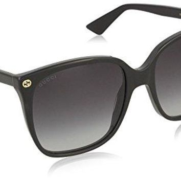 Gucci Women GG0022S 57 Black/Grey Sunglasses 57mm