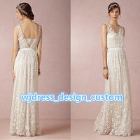 New White/Ivory Lace wedding dress bridal gown size 6 8 10 12 14 16 18+